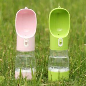Pet Portable Water Bottle Cup Dog Cat Feeder Dispenser Drinking Outdoor