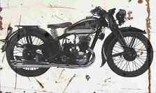 DKW Sport250 1936 Aged Vintage SIGN A3 LARGE Retro