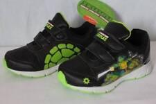 NEW Toddler Boys Tennis Shoes Size 7 Black TMNT Mutant Ninja Turtles Sneakers