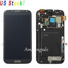 For Samsung Galaxy Note 2 N7105 i317 T889 LCD Screen +Digitizer Bezel Frame Grey
