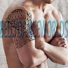 POLYNESIAN TRIBAL TOTEM TEMPORARY TATTOO ARM MAN BODY ART WATER TRANSFER STICKER