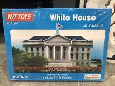 Wit Toys White House 3D Puzzle # 1123-3 Washington 102 Pieces NEW