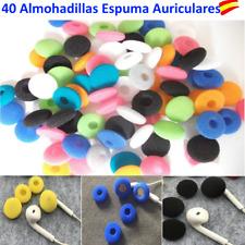 40 ALMOHADILLAS ESPUMA AURICULARES 10 COLORES DISTINTOS 2 PARES POR COLOR
