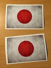 2x JAPAN Flagge Aufkleber Sticker Asia Tuning Nippon Racer Rennsport vintage