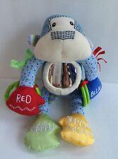 Gund Baby Jax Rolly Polly Blue Monkey Rattle Corduroy
