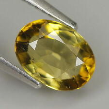 RARE 6x4mm OVAL-FACET NATURAL AFRICAN LIGHT-YELLOW TOURMALINE GEMSTONE