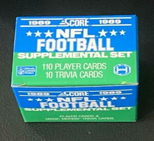 1989 Score Supplemental Football Empty Factory Set Collectible Box (no cards) a
