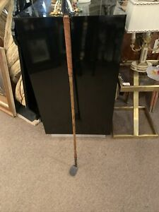 1890s Spalding Smooth Concave Face Golf Club Right  Wood And Iron