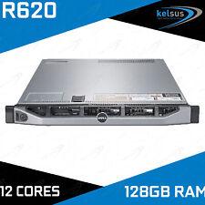 Dell PowerEdge R620 2x Xeon E5-2640 3.00GHz 12-CORE 128GB DDR3 H710 240GB 8 Bay