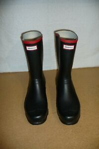 ARGYLL Short Knee Wellington Boots - Mens Black Size UK 12 EU 47 (w359)