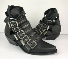 Jeffrey Campbell Disturbed Moto Buckle Boots Size 7