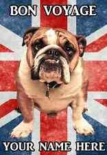 Bulldog Bon Voyage A5 Tarjeta de felicitación personalizada pidbul 2