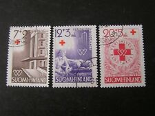 Finland, Scott # B104-B106(3), Complete Set1951 Semi-Postal Red Cross Issue Used