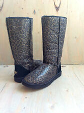 UGG CLASSIC TALL GLITTER LEOPARD WOMENS BOOT  US 6 UK 4.5 EU 37 NEW