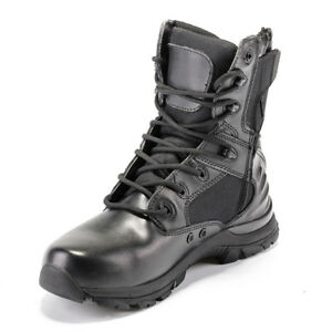 Mens Womens Outdoor Tactical Leather Boots Military Combat SWAT Shoes UK 3.5-11