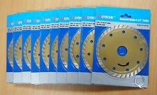 "Lot of (10) 4-1/2"" DIAMOND BLADE WET/DRY TURBO"