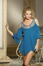 Shirley of Hollywood Sapphire Blue Babydoll Nightdress - UK Size 16 - RRP £39.99