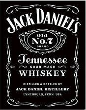 Jack Daniels Black Label metal sign   420mm x 310mm    (sf)
