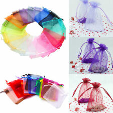 2 Size 100Pcs Organza Wedding Party Decor Candy Bags Jewelry Gift Packaging Bag