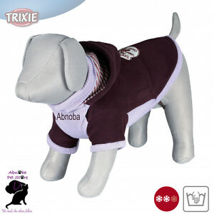 Trixie Dog Sanremo Pullover polo neck Sleeves hood thick fleece synthetic wool