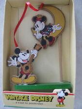 Vintage Disney Mickey Minnie Mouse Ornament Kurt Adler Replica w Box Rare