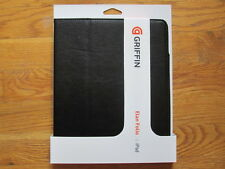 "Griffin Passport Leather Folio Flip Book Case for 9.7"" iPad 1/2/3/4 Black"