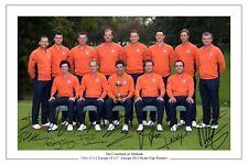 L'Europe 2012 Ryder Cup équipe gagnante signé autographe photo print