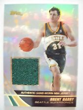 2004 TOPPS BASKETBALL GAME JERSEY BRENT BARRY  SEATTLE JE-BB    BX54