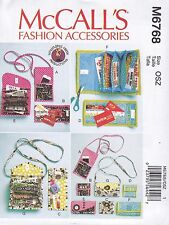McCall's Sewing Pattern Crafts Phone Purse Reqards Card Wallets Size OSZ M6768