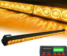 "35.5"" Amber Warning Traffic Advisor 16 Modes Strobe lightbars with LED Display"