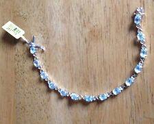 Bracelet - Sky Blue Topaz and 14KYG and Platinum over Sterling Silver