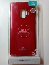 Pearl Jelly Case for Samsung Galaxy S9 (2018) Slim Thin Rubber Red