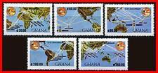 Ghana 1990 Space Communications / Intelsat Sc#1214-18 Mnh Cv4.75 Maps