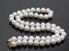 AAA+ 8-9mm Weiß Akoya Cultured Perlen-Halskette 46cm