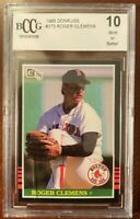 1985 Roger Clemens Donruss #273 Rookie RC BCCG 10 Mint! Red Sox