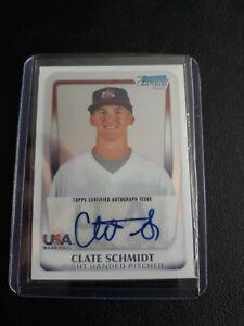 2011 Bowman Chrome 18U USA National Team Refractor 18U-22 Clate Schmidt #198/417