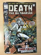 Lady Death #1 Death The Barbarian DAMAGED Variant Cover Steven Butler Conan #1