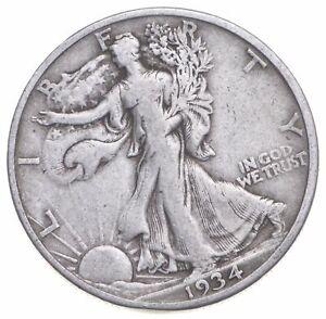 1934-S Walking Liberty 90% Silver US Half Dollar *828