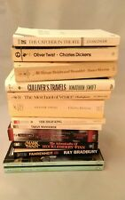13 Classic Literature Books Mixed Lot Salinger,Charles Dickens,Ray Bradbury....