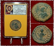 Ancient Byzantine Empire Coin ROMANUS IV JESUS CHRIST and VIRGIN ORANS