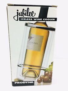 Jubilee Acrylic Prodyne Iceless Wine Cooler Bottle NEW Open Box NEVER USED