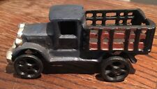 "Toy Stake Bed Truck cast iron toy car. 5-7/8"" inch"