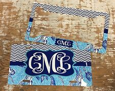 Personalized Monogrammed License Plate Car Tag W Matching Frame Initials Custom