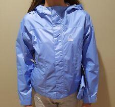 NEW SIERRA DESIGNS Girl's Hurricane Hooded Waterproof Rain Jacket Blue SMALL