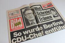 BILDzeitung 28.02.1975 Februar Umschlagsseiten / 4 Seiten    CDU Chef entführt