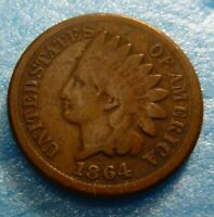 1864  CN  Indian Head Penny Cent  Coin  #I64