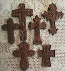 LOT OF 6 GIFTCRAFT POLY RESIN ASSORTED CROSS CROSSES WALL PLAQUES
