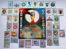 Panini WM 2002 - Leeralbum / empty album + Set Wappen / badges komplett - vgc