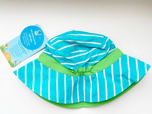 iPlay Green Sprouts Baby & Toddler Striped Bucket Sun Protection Hat UPF 50+