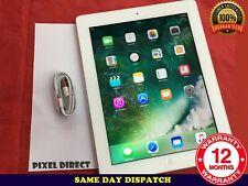 Apple iPad 4th GEN. 32GB, Wi-Fi + Cellulare 4G (sbloccato) - BIANCO iOS 10-Ref 89